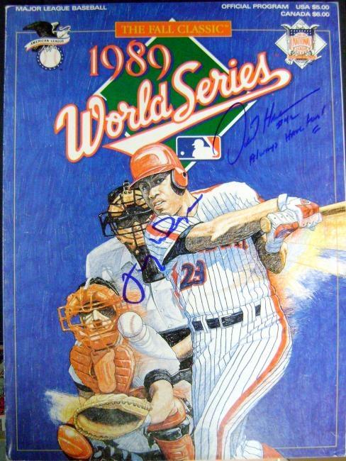 1989 World Series program