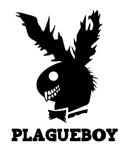 playboy bunny zombie logo