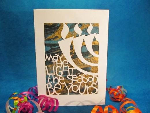Chanukah Card by Kim Phillips