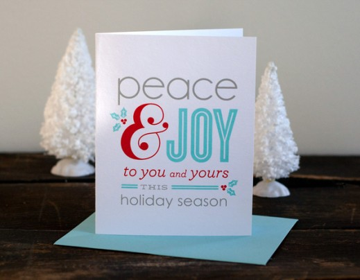 Typography Holiday Card by Alisa Bobzien