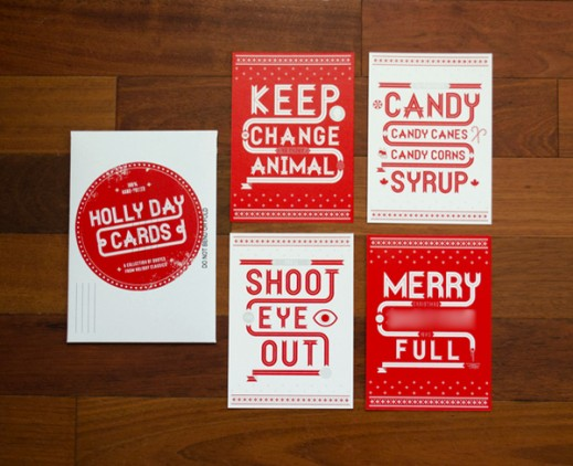 Cards Inspired by Famous Holiday Movies by Tommy Perez