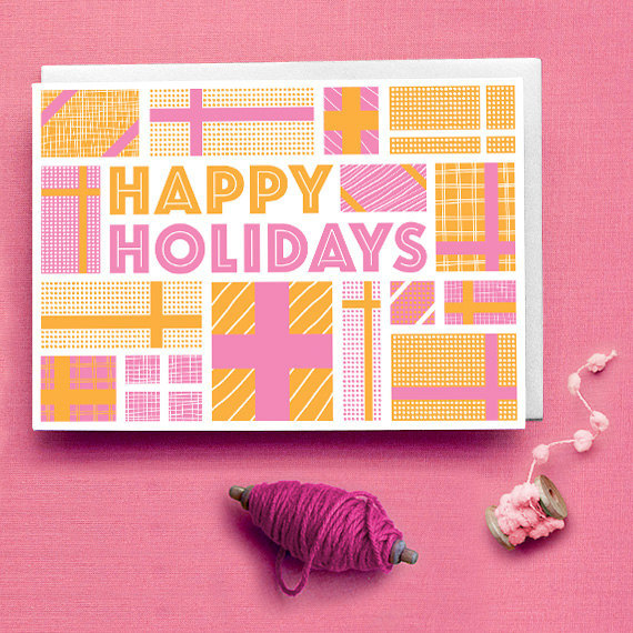Typographic Holiday Card