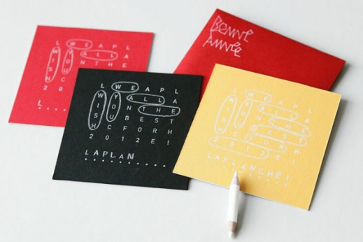 Crossword Greeting Cards by Laplanche Agency