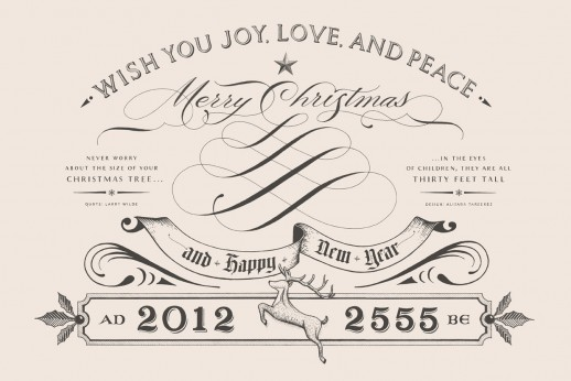 Buddhist New Year Holiday Card