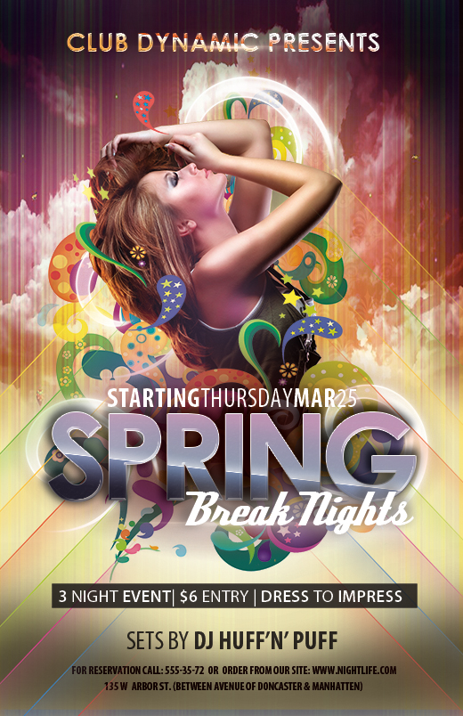 free spring break flyer