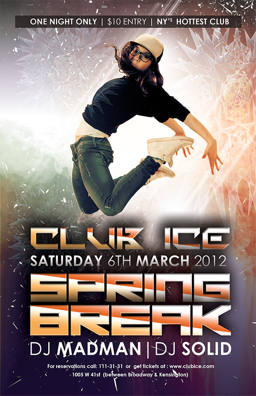 free breakdance girl flyer