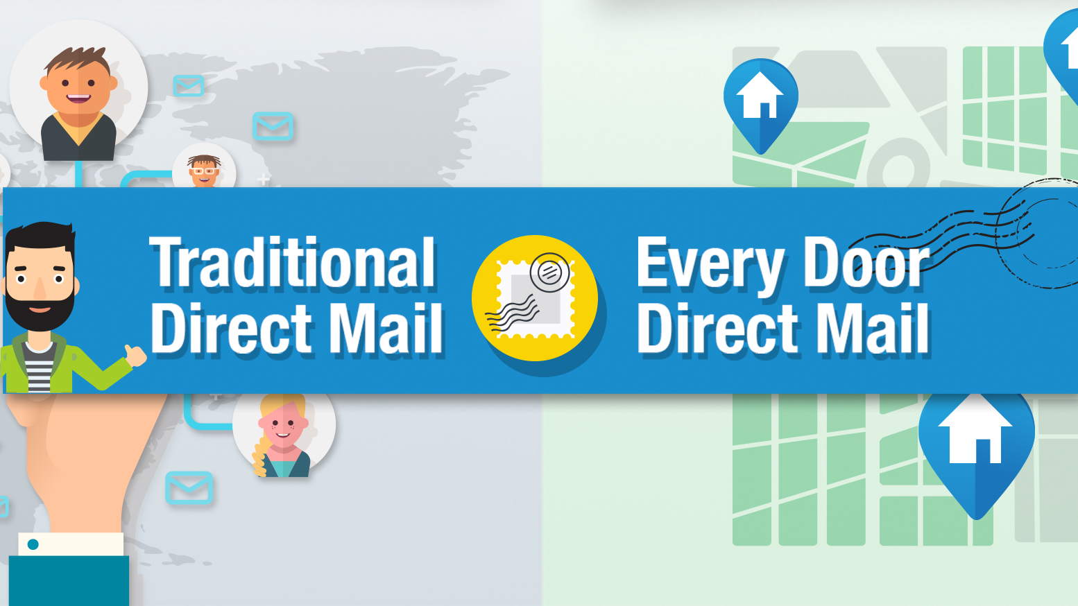 Direct mail types infographic