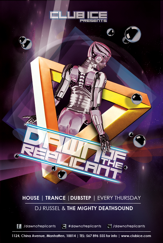 Free Artistic Club Flyer Templates For Dubstep Dance Trance