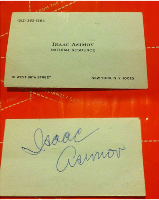 isaac-asimov-business-card