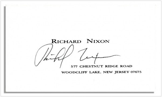 richard-nixon-business-card