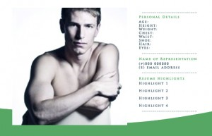 FREE Comp Card Templates For Actor Model Headshots NextDayFlyers - Model comp card template