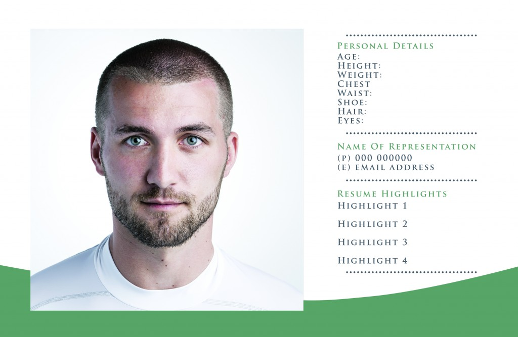 Free comp card templates for actor model headshots nextdayflyers zedcard03 pronofoot35fo Gallery