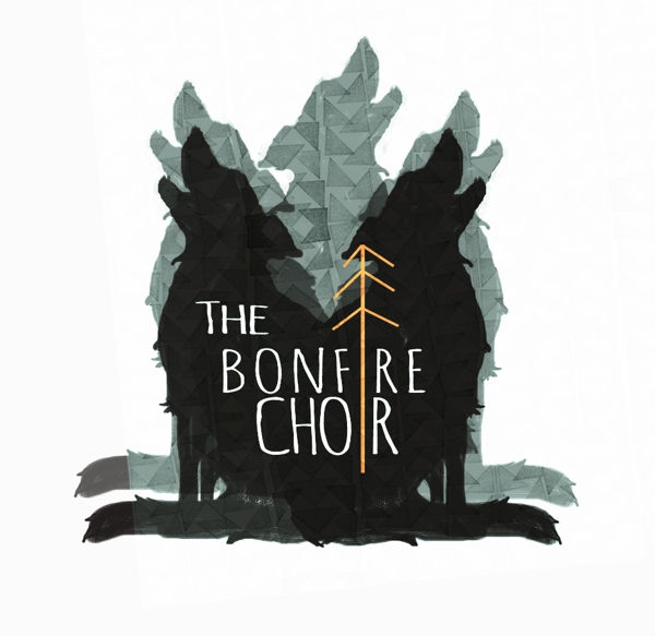 Logo for band the bonfire choir