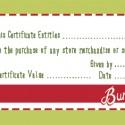 elf gift certificate
