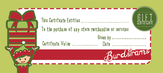 Elf Gift Certificate  Christmas Gift Card Template
