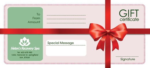 Free Holiday Gift Certificate Templates in Photoshop and Vector – Xmas Gift Certificate Template