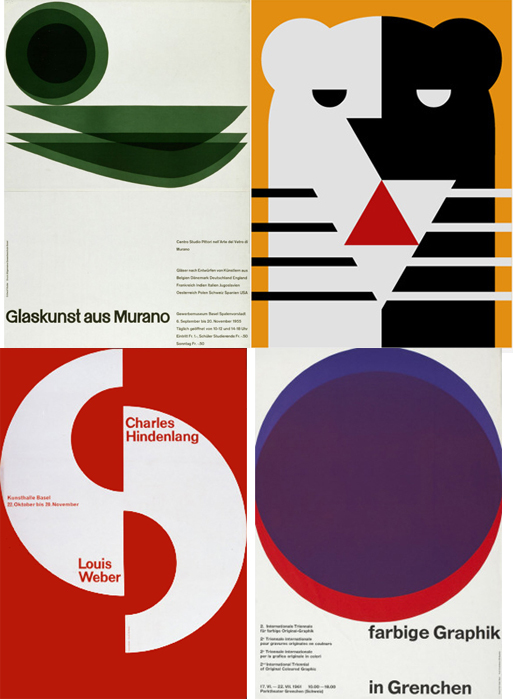 Emil Ruder shows the minimalist approach of the Swiss graphic design style
