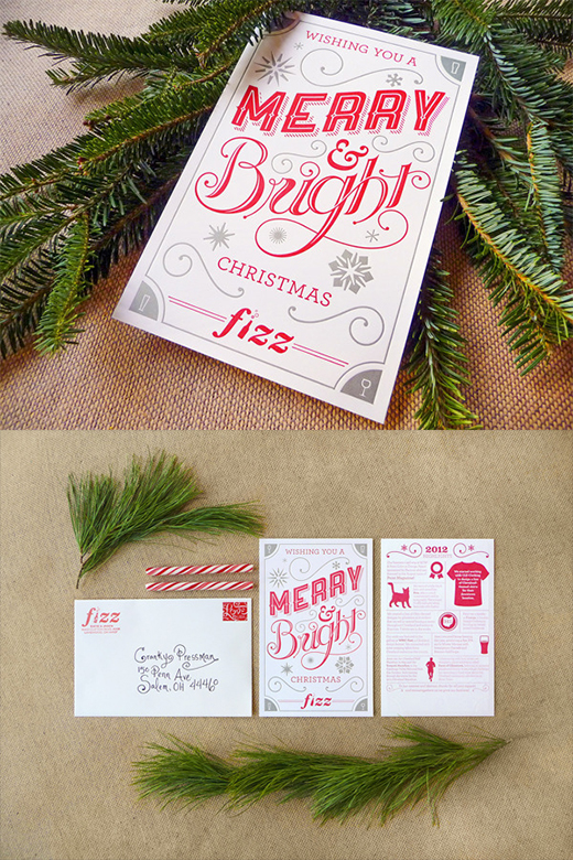 font perfect christmas card