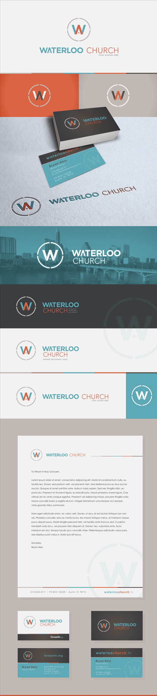 waterloo church logo design