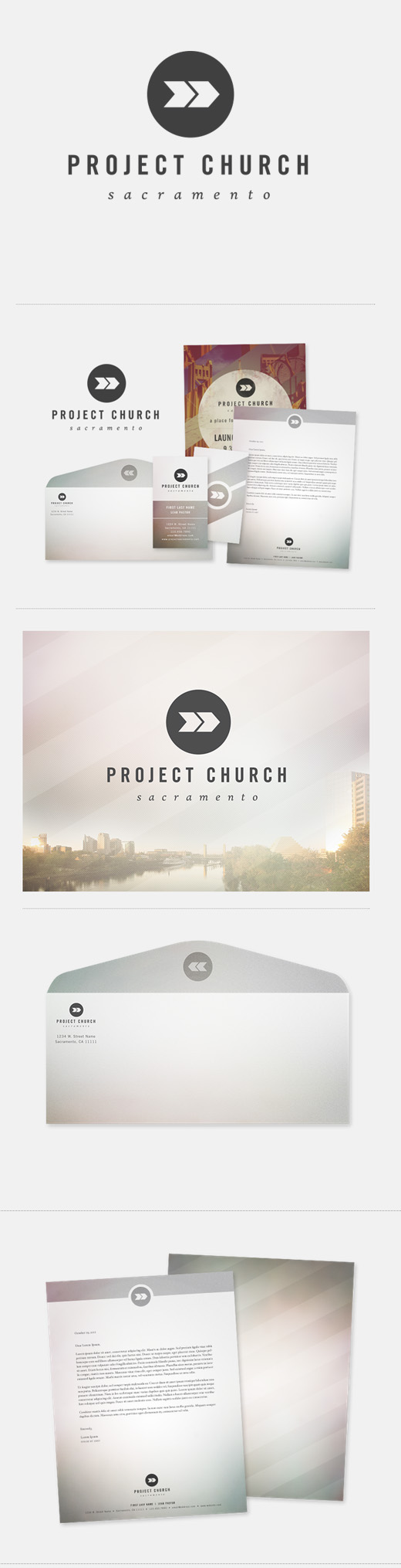 project church logo design