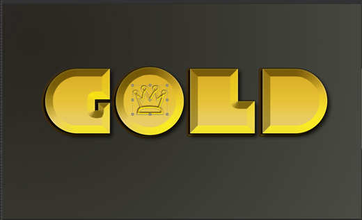 gold photoshop effect