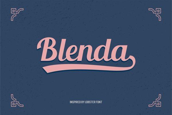 free blenda font