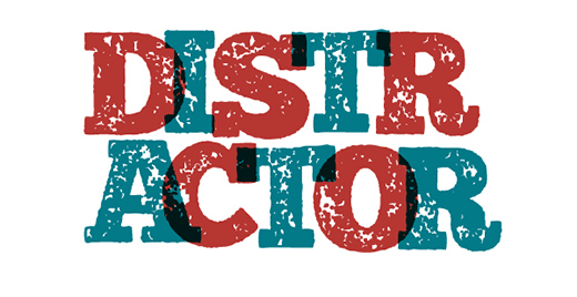 free distractor font