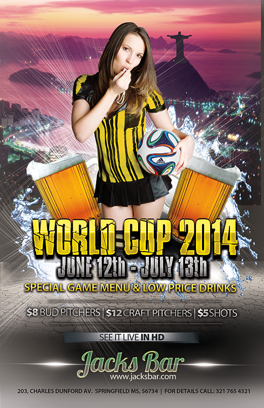 Free 2014 World Cup Templates Make Your Own Postcard or Flyers – Sports Flyers Templates Free