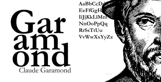 Garamond-font