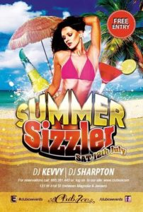 Hot Summer Flyer Template