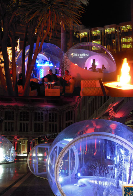 bubble rooms for events