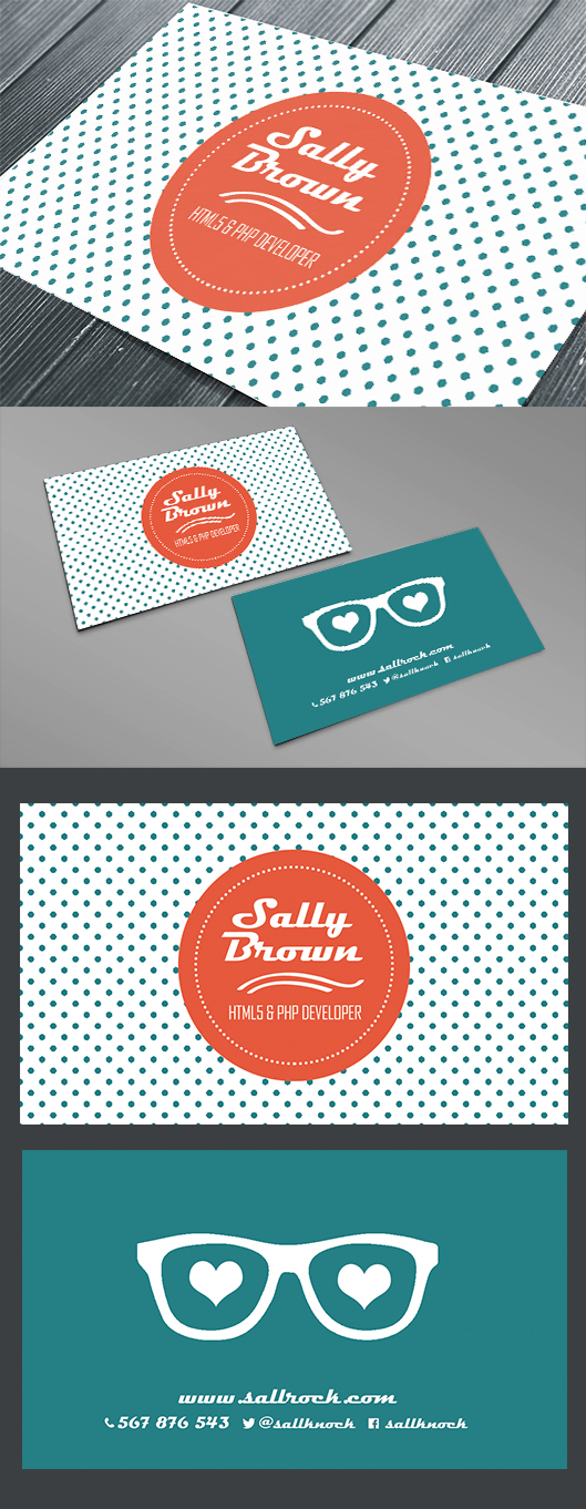 Awesomely Geeky (and Free) Quality Business Cards Templates For ...