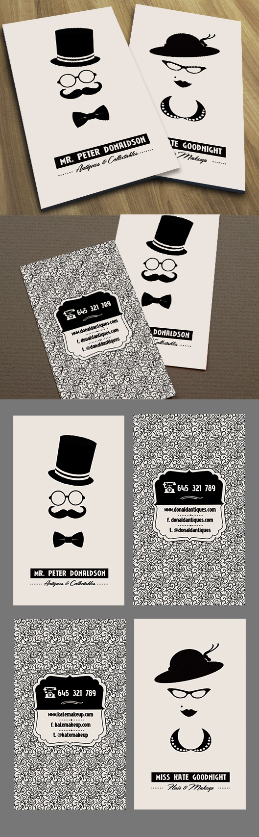 geek chic business cards