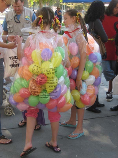candy bag balloon halloween costume