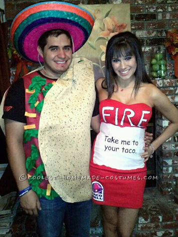 22 funny and easy halloween costume ideas taco bell hot sauce costumes solutioingenieria Images
