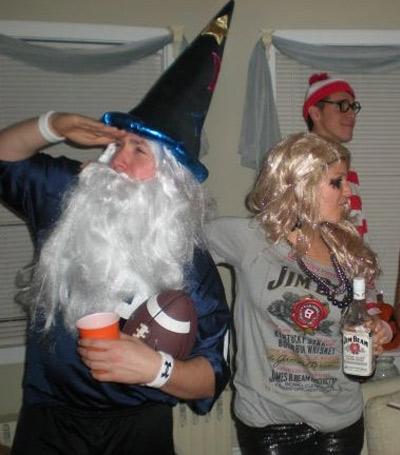 DIY fantasy football halloween costume