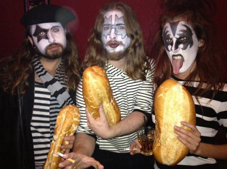 french kiss halloween homemade costume