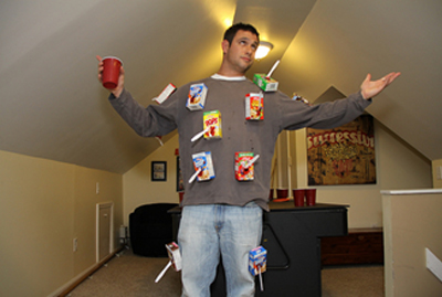 Cereal killer Halloween costume idea  sc 1 st  NextDayFlyers & 22 Funny and Easy Halloween Costume Ideas