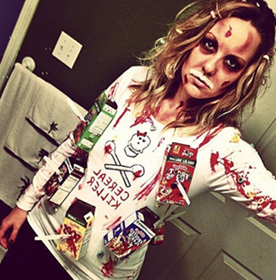 22 funny and easy halloween costume ideas cereal killer easy halloween costume ideas solutioingenieria Choice Image