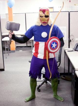 funny halloween costume idea avangers
