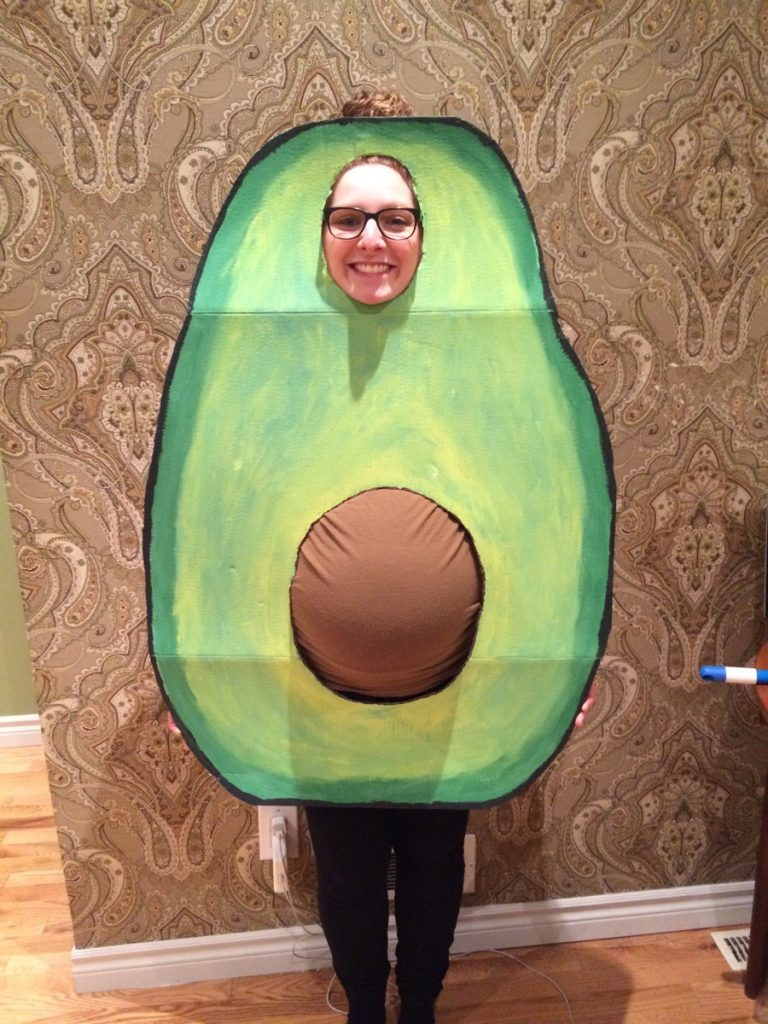 pregnant avocado halloween costume