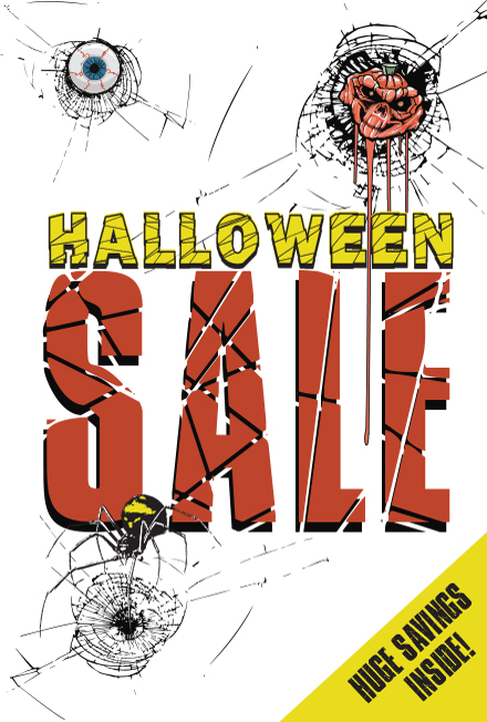 free halloween sales window cling