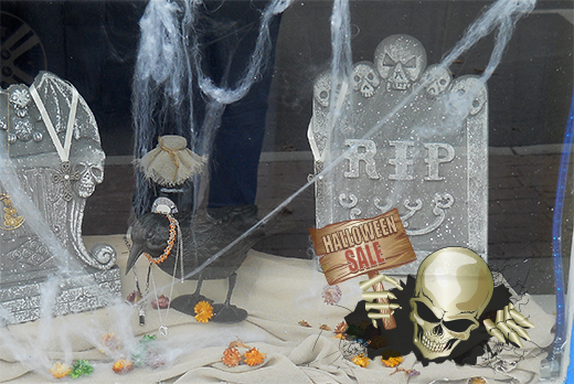 halloween shop window cling