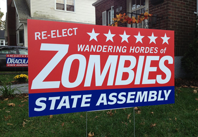 funny yard sign