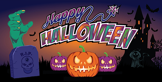 halloween vinyl banner vector template