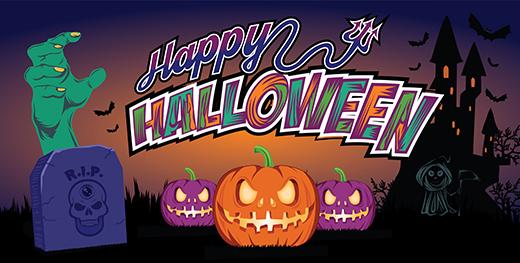 halloween vinyl banner vector template