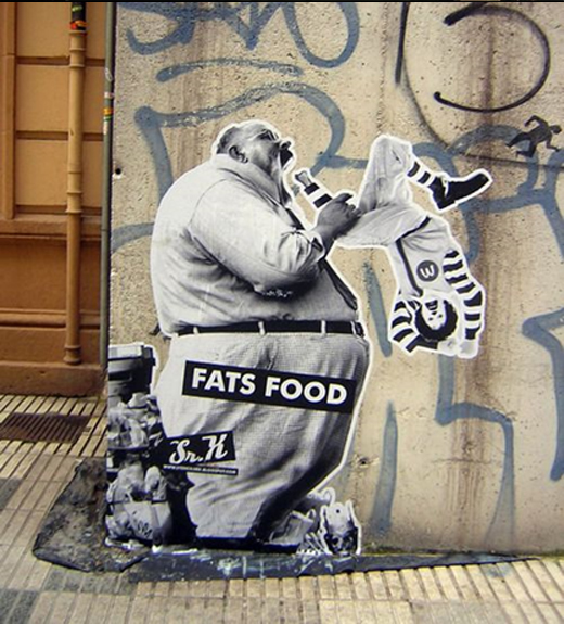 anti consumerism street art
