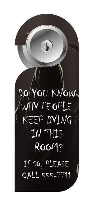 funny door hanger flyer