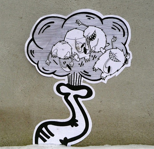 street art sticker