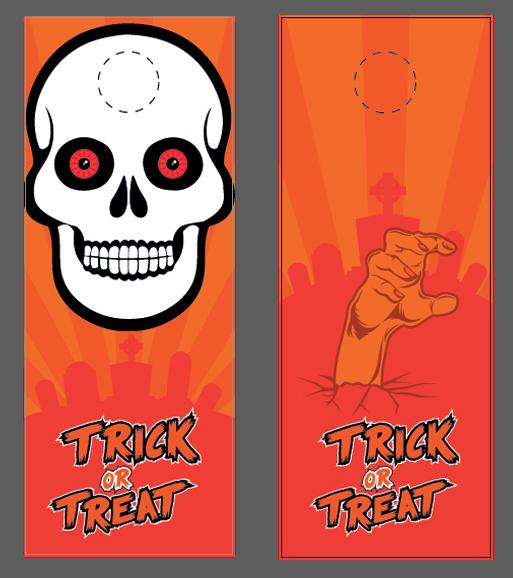 halloween vector door hanger template